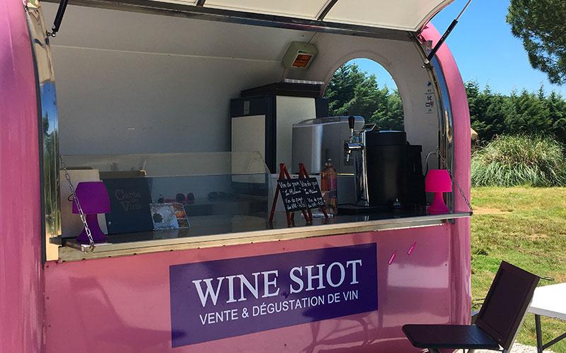 Location remorque Wine Shot